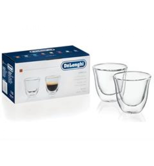 Delonghi Double Walled Cappuccino Cups - set of 2 cups