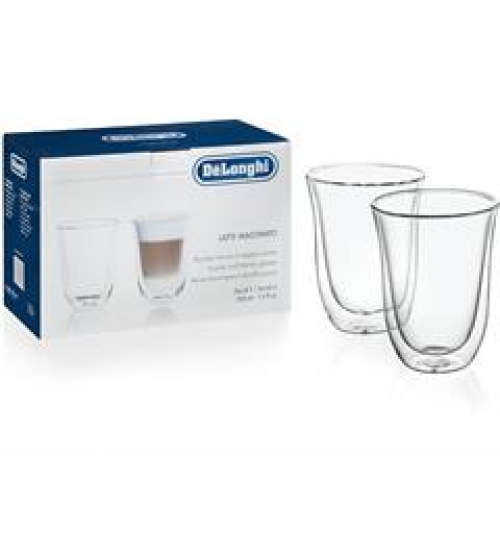 Delonghi Double Walled Latte Cups - set of 2 cups