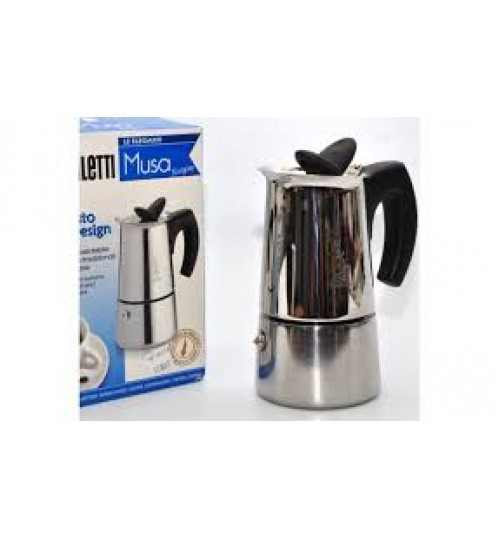 BIALETTI - Musa Stainless 2 Cup Espresso Maker