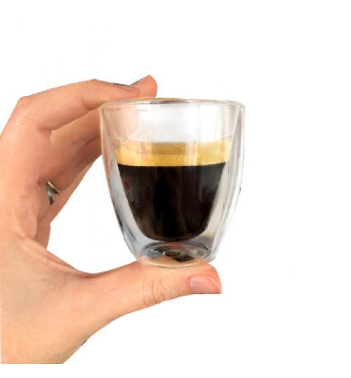 SARA Double Wall Espresso Cups (without handle) SET OF 4