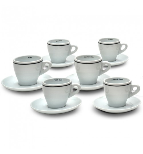 SARA - Parole Cappuccino Cups (Set of 6)