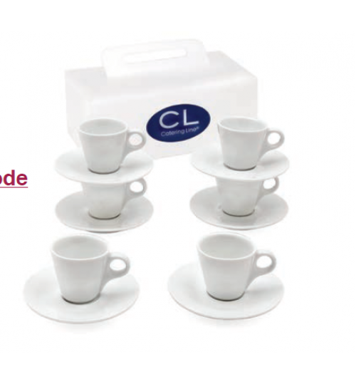 CATERING LINE - Sposa White Espresso Cups (Set of 6)