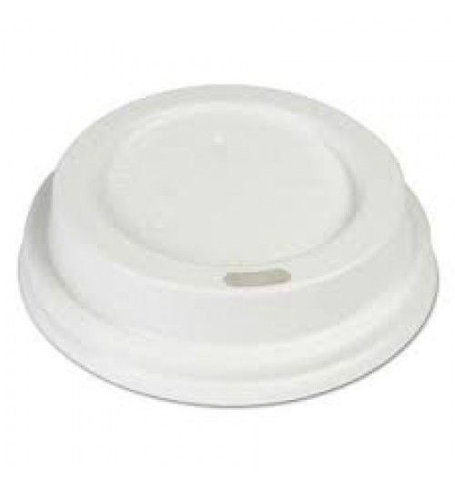 8oz Plastic Lids White Dome (Sleeve of 50)