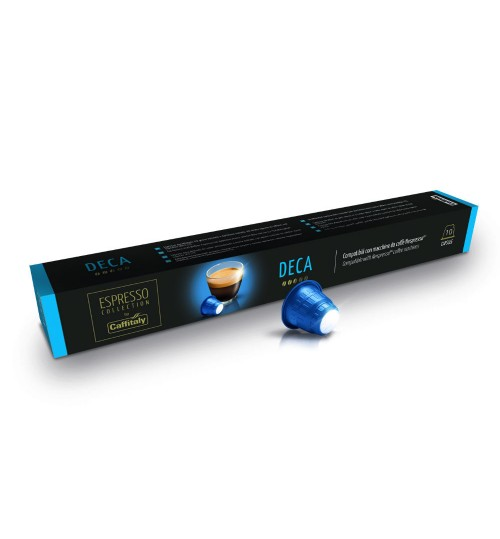 CAFFITALY - Decaffeinated Capsules {compatible with Nespresso®}