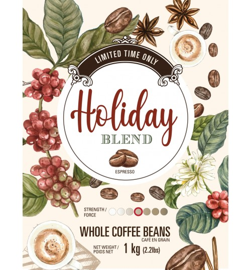 ANTHONY'S - *HOLIDAY Coffee Blend 1kg Coffee Beans* [FRESHLY ROASTED THIS WEEK - LIMITED TIME ONLY]
