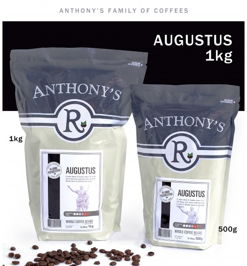 ANTHONY'S - Augustus 1kg Whole Beans [ROASTED FRESH EVERY WEEK]