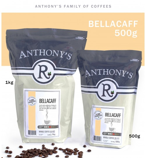 ANTHONY'S - Bellacaff 500g Whole Beans