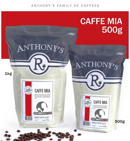 ANTHONY'S - Caffe Mia 500g Beans