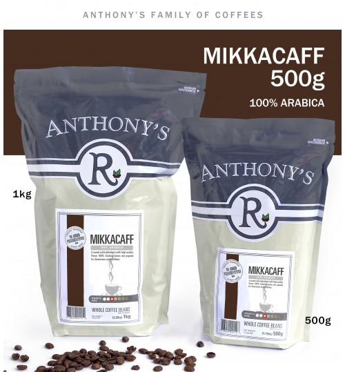 ANTHONY'S - Mikkacaff 500g Whole Beans 100% Arabica