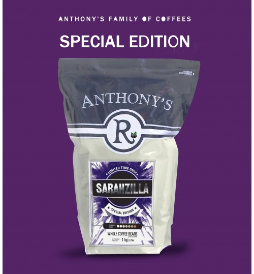 ANTHONY'S - Sarahzilla 1kg Whole Beans [SPECIAL EDITION - LIMITED TIME]