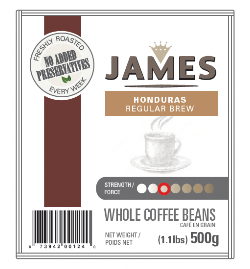 ANTHONY'S - James Honduras Roast 500g [REGULAR DRIP WHOLE BEAN]