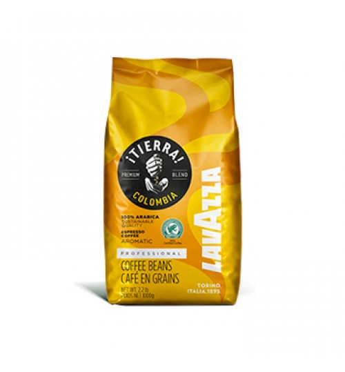 LAVAZZA ¡Tierra! Colombia 100% Arabica Espresso Beans 1KG [OUT OF STOCK]
