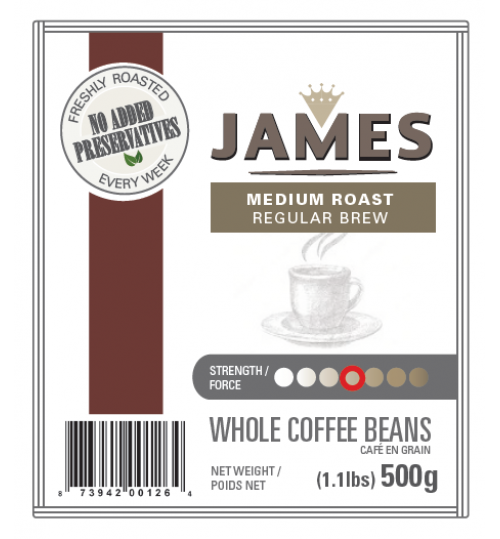 ANTHONY'S - James Medium Roast 500g [REGULAR DRIP WHOLE BEAN]