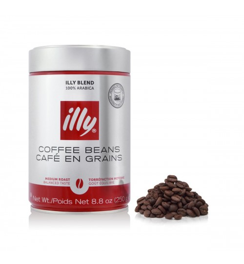 ILLY - Medium Roast Whole Coffee Beans - 250g Tin