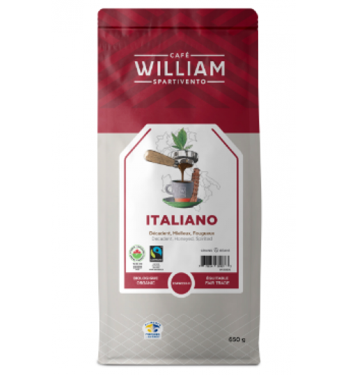 Cafe William - Italiano 650g Whole Bean Coffee [Organic]