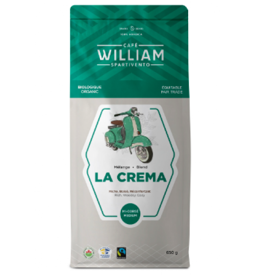 Cafe William - La Crema 650g Whole bean