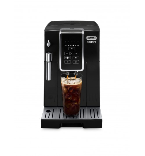 DELONGHI - Dinamica  BLACK [BACK IN STOCK + FREE LATTE CUPS & BAG OF COFFEE] Automatic Coffee & Espresso Machine with Iced Coffee, TrueBrew Over Ice - ECAM35020B