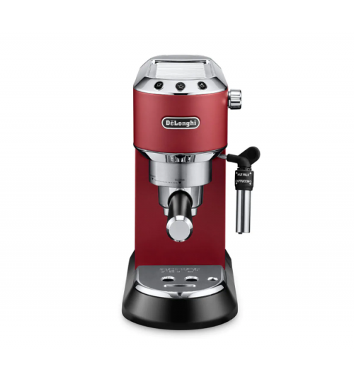 DELONGHI - Dedica Deluxe Manual Espresso Machine, Cappuccino Maker - MATTE RED - EC685R