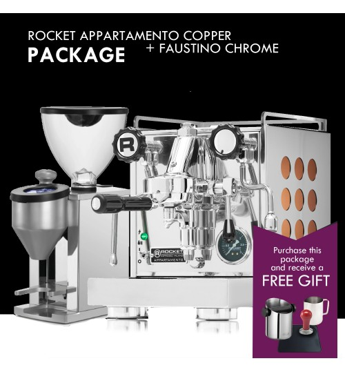 *COMBO PACKAGE* ROCKET - Appartamento Copper & Faustino Chrome Grinder  [IN STOCK]