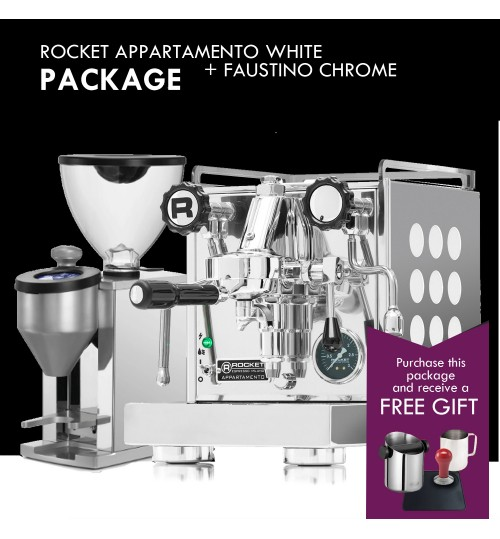 *COMBO PACKAGE* ROCKET - Appartamento White & Faustino Chrome Grinder  [IN STOCK]