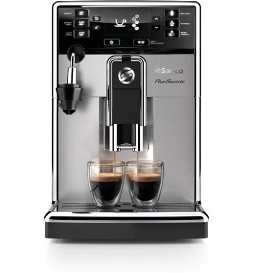 SAECO - PicoBaristo AMF (SOLD OUT) Super-Automatic Espresso Machine with Automatic Milk Frother with Aquaclean, Stainless Steel, HD8924/47