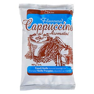 Dure French Vanilla Flavoured Cappuccino Mix (6 x 907g bags)