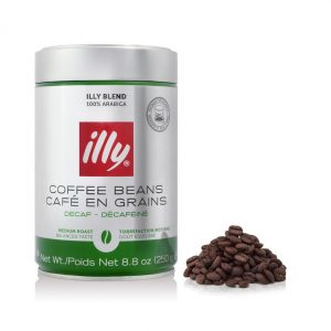 ILLY - Decaffeinated Whole Coffee Beans - 250g Tin