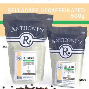 ANTHONY'S - Bellacaff DECAFFEINATED 500g Beans