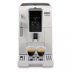 DELONGHI - Dinamica WHITE  [BACK IN STOCK] [3 YEAR WARRANTY] Automatic Coffee & Espresso Machine with TrueBrew Over Ice, White - ECAM35020W