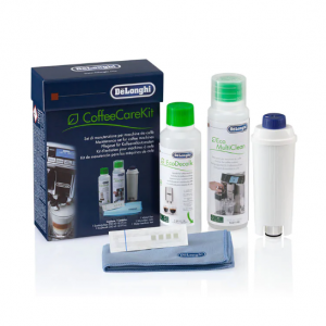 DELONGHI - Coffee Care Kit, Espresso Machine Maintenance Bundle (Descaler, Water Filter, Milk Residue Remover & More) - DLSC306